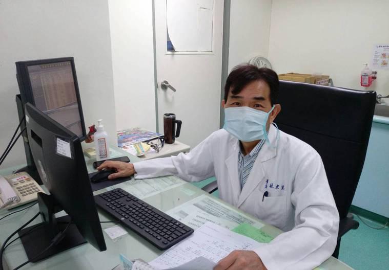 部立嘉義醫院醫師林老生表示,下肢靜脈曲張勿輕忽。圖/院方提供