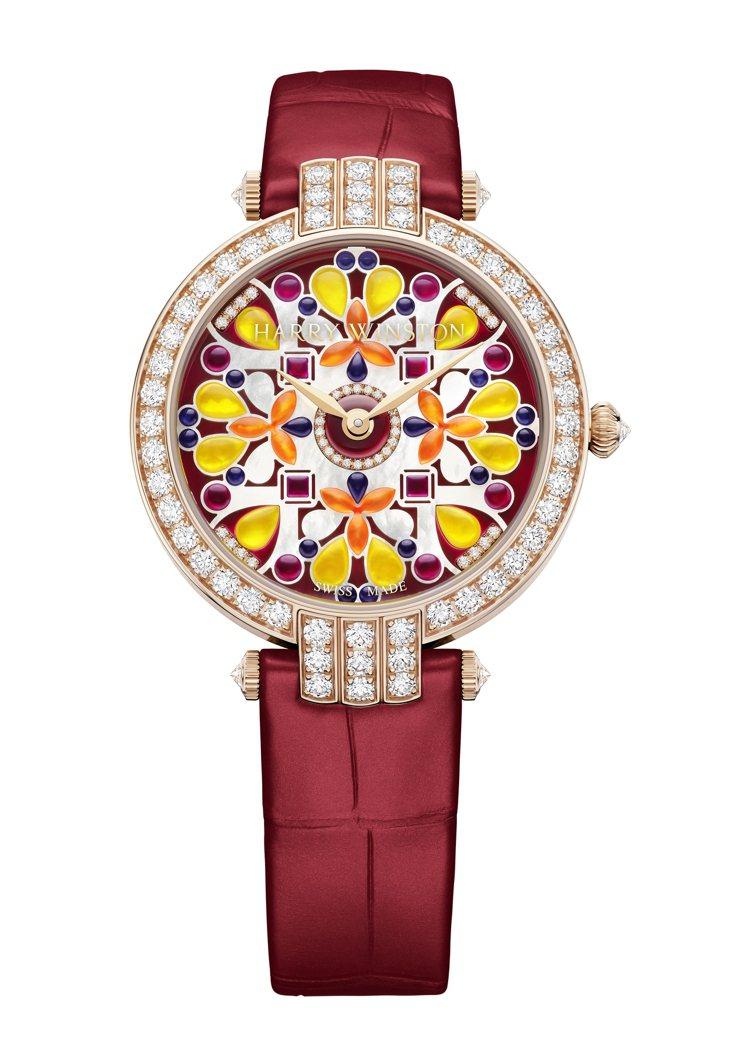海瑞溫斯頓麗晶獨家卓時Premier系列Kaleidoscope腕表,價格店洽。...