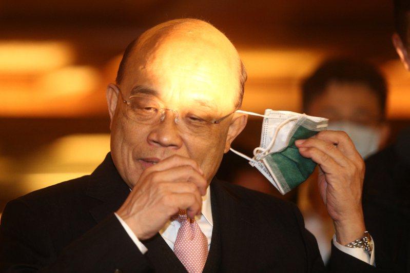 行政院長蘇貞昌(圖)昨天出席「台灣觀光協會捐贈人年會暨64週年慶祝茶會」,針對遭藍委爆料「痛罵小英半小時」回應,強調與總統彼此信任。記者蘇健忠/攝影