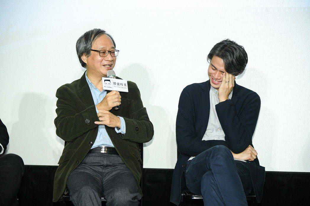小野(左)和吳定謙都參與紀實片「小兒子膠囊時光」拍攝,紀錄父子間的相處時光。 圖...