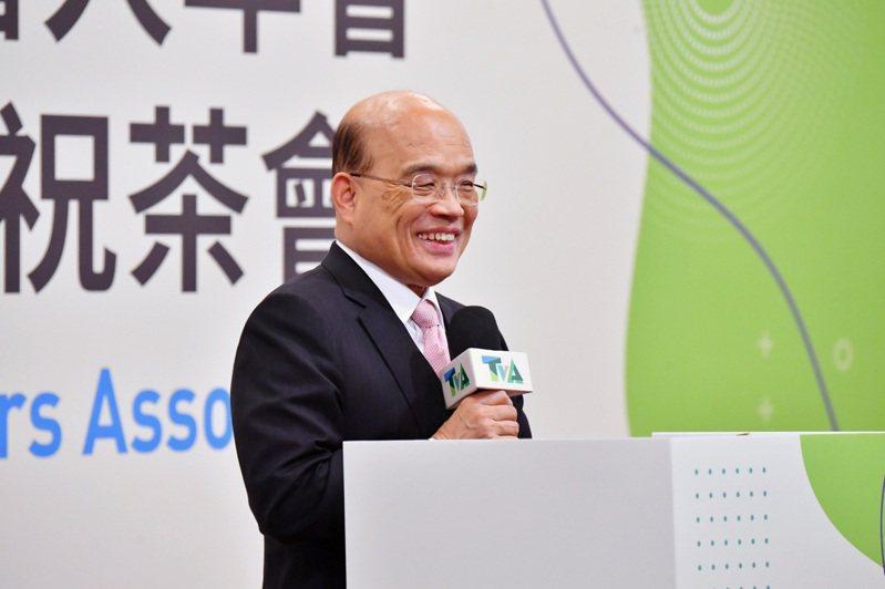 行政院長蘇貞昌出席台灣觀光協會捐贈人年會暨64週年慶祝茶會。行政院/提供