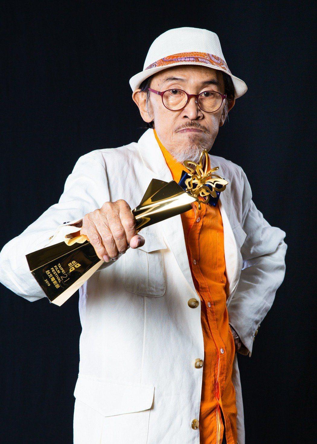 小戽斗去年以「老大人」奪得2019台北電影獎最佳男主角獎。圖/台北電影節提供