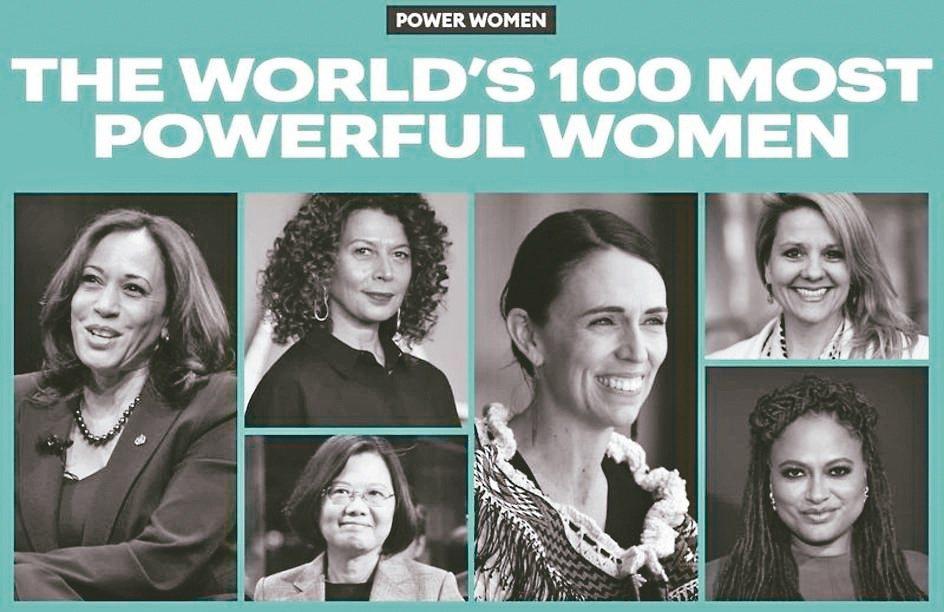 蔡總統獲選百大最有權勢女性。(富比世雜誌網站)