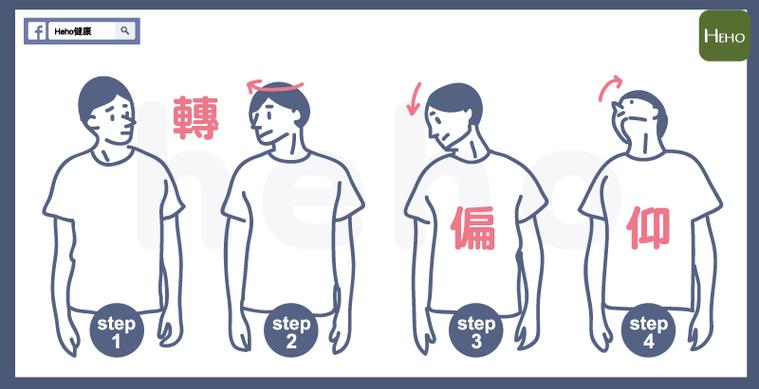 落枕舒緩操4步驟 圖/林以璿、阿巫 Heho提供
