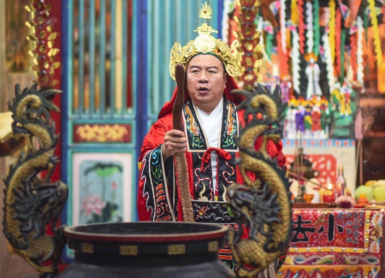 蘇志祥退休後成道教大法師。 圖/蘇志祥提供