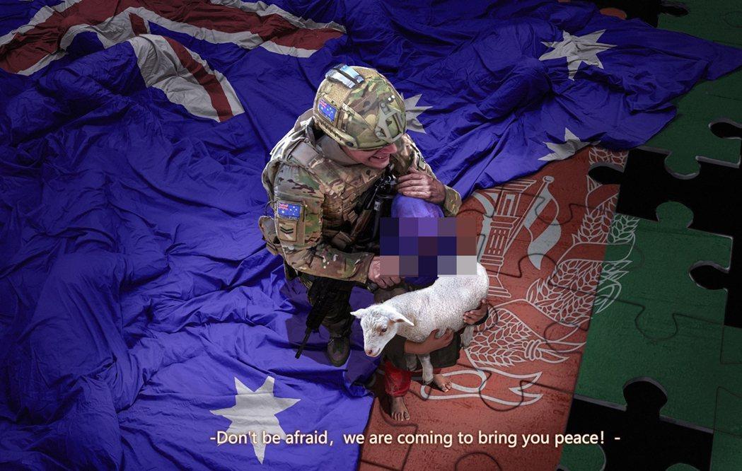 11月30日,中國外交部官員兼發言人趙立堅在推特上發佈了一張澳洲士兵以刀抵著孩子...