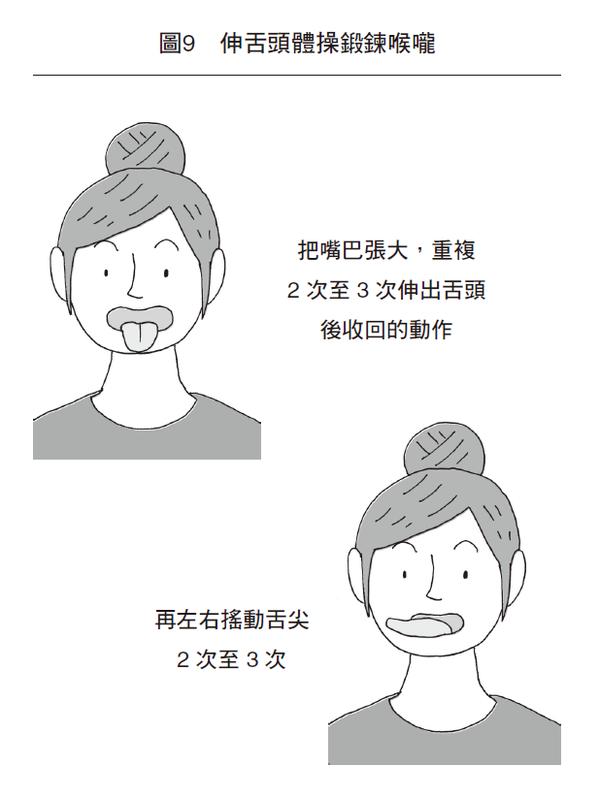 每天早上抽出五分鐘做「伸舌頭體操」,就能有效預防吞嚥障礙增進吞嚥能力。 圖/天下...