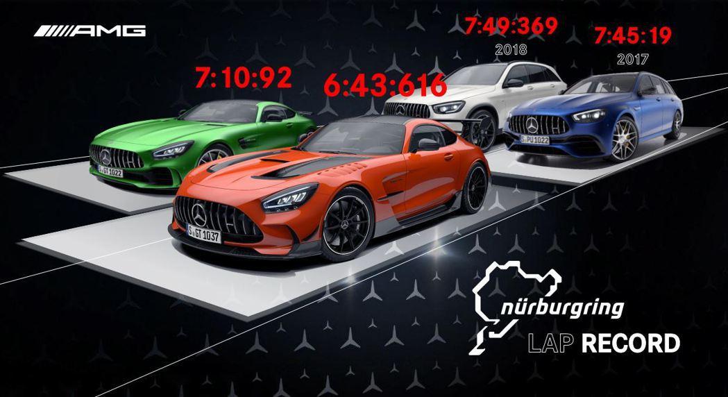 Mercedes-AMG近年不斷在紐柏林刷新紀錄。 圖/台灣賓士提供