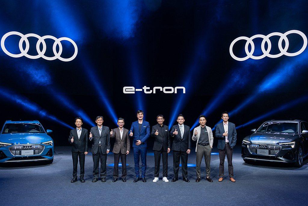 Audi e-tron發表會邀請中華民國企業永續發展協會莫冬立秘書長、Noodo...