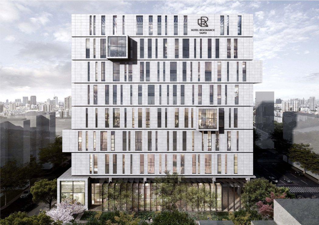 台北時代寓所北向建築立面。 圖/台北時代寓所提供