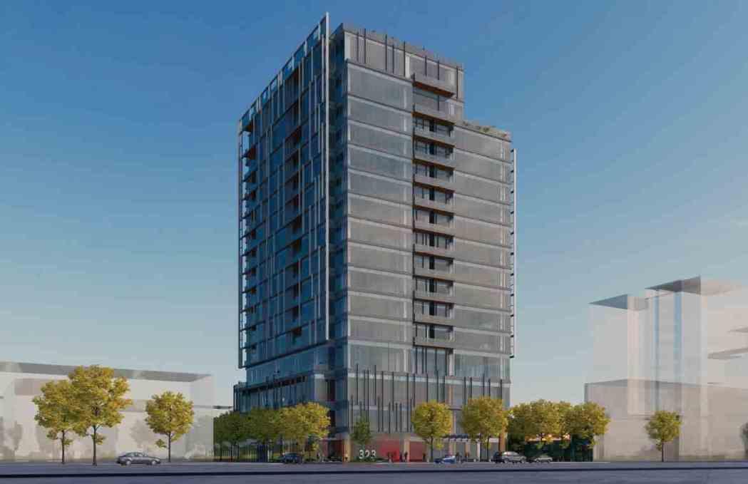 「金矽谷NO.25」樓高16層,SRC鋼骨結構三年後完工,將成為大內科南區最高地...