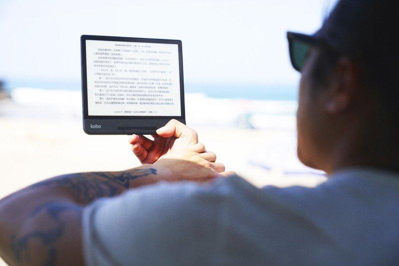 樂天Kobo電子書10日發表2020年閱讀習慣調查,營運本部長周立涵指出,疫情改變消費型態,提升民眾居家活動時間,也帶動電子書閱讀器全年業績翻倍成長。圖/樂天Kobo提供