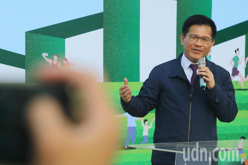 交通部長林佳龍出席台中綠空鐵道軸線開幕展。記者黃仲裕/攝影