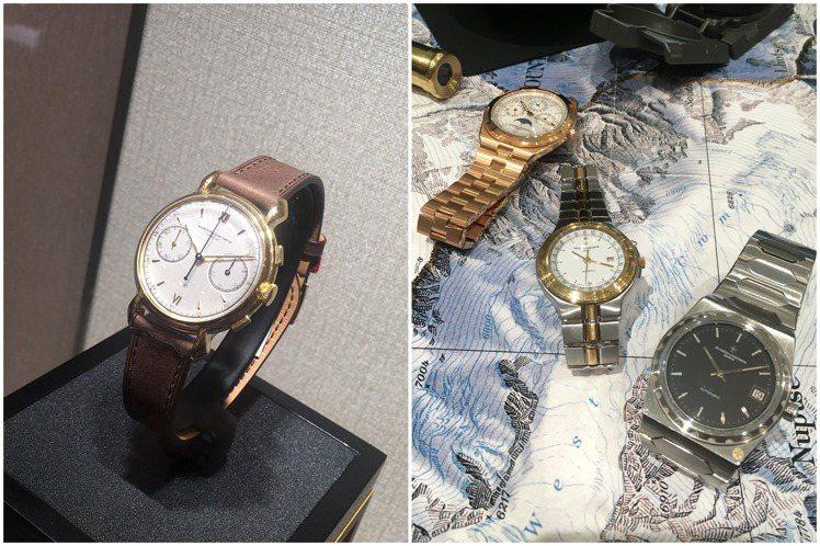 江詩丹頓正於台北101專賣店上展出古董時計,時間橫跨63年的六枚古董與現代作品,...