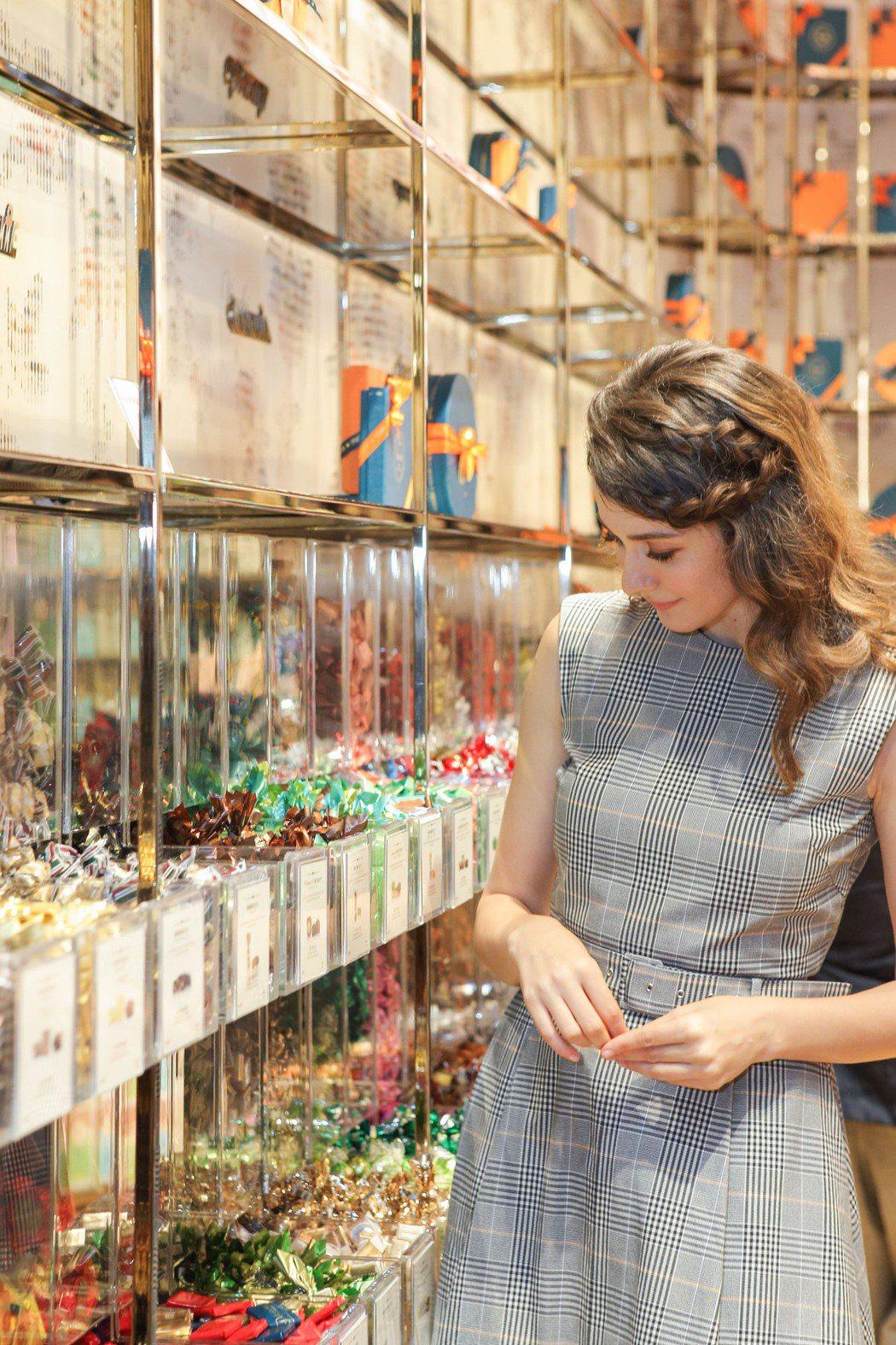 瑞莎出席巧克力品牌新店開幕活動。圖/Venchi提供