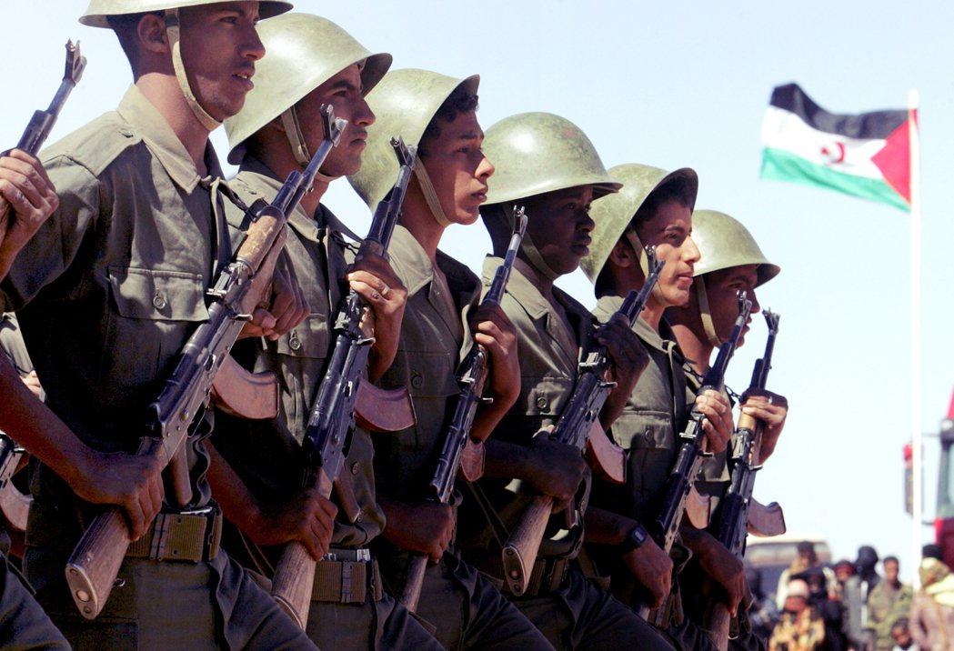 西撒哈拉士兵。 圖/歐新社