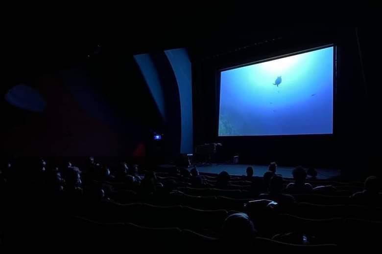 年末的首場實體放映前夕傳來完售的好消息,現場也來了許多西方面孔的觀眾。 圖/作者提供