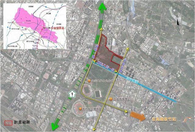 園區區位及範圍示意圖。 工業局/提供