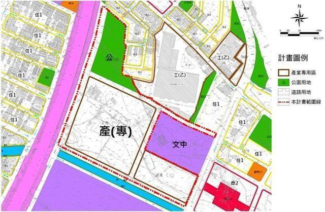 園區土地使用配置圖。 工業局/提供