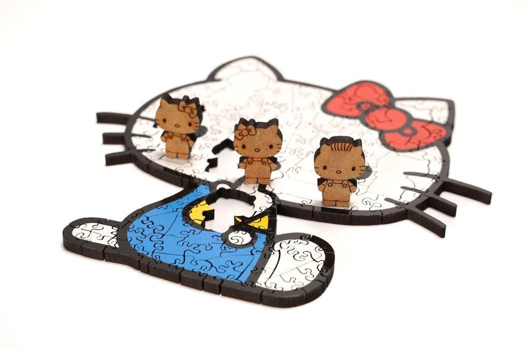 三麗鷗Hello Kitty經典木拼  海裡魚創意工作室/提供