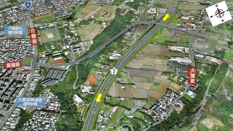國道3號增設大鶯豐德交流道工程預計2026年完工。