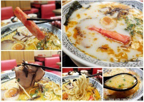 乳白色的湯頭帶些透度,麻辣醬料添入後,整碗拉麵的像是活了起來,鮮豔豐富