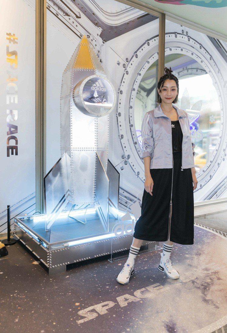 謝欣穎現身「adidas Space Race 太空聖誕期間限定店」開幕記者會。...