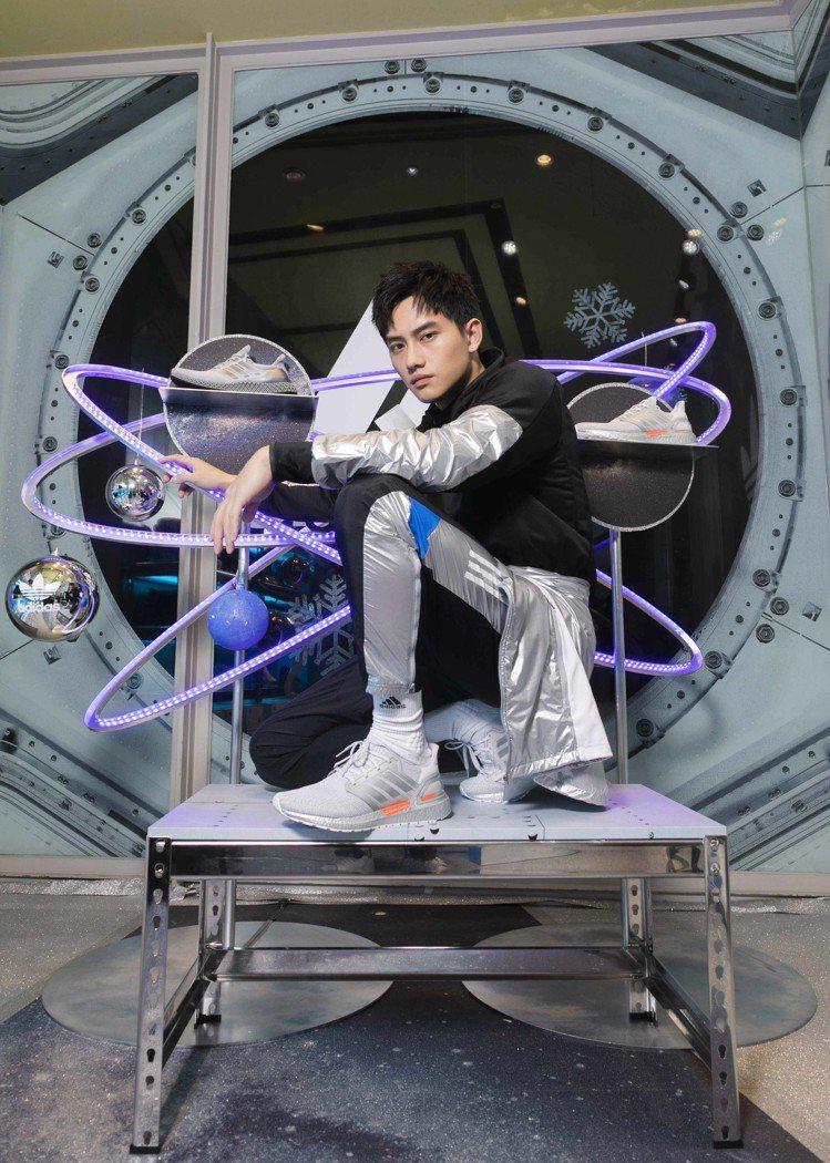 范少勳現身「adidas Space Race 太空聖誕期間限定店」開幕記者會。...
