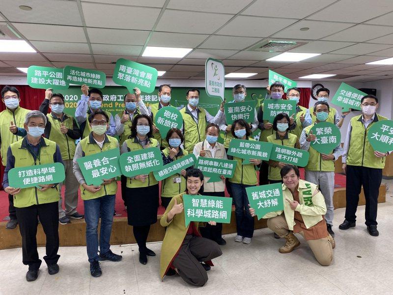 台南市工務局今天開年終記者會,指出北外環道路全線最快2026年完成通車。記者鄭維真/攝影