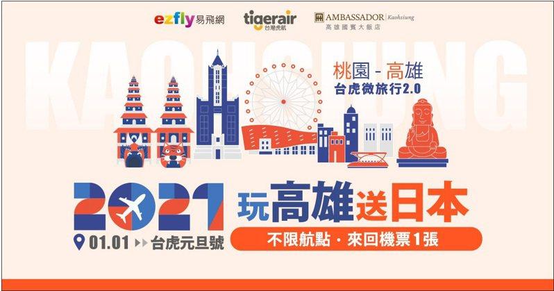 台灣虎航與易飛網攜手推出桃園-高雄限量微旅行。  圖/台灣虎航提供