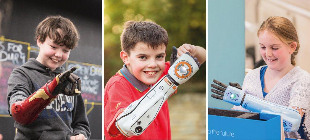 Open Bionics還提供兒童客製化選項,有鋼鐵人、星際大戰和冰雪奇緣版本。...
