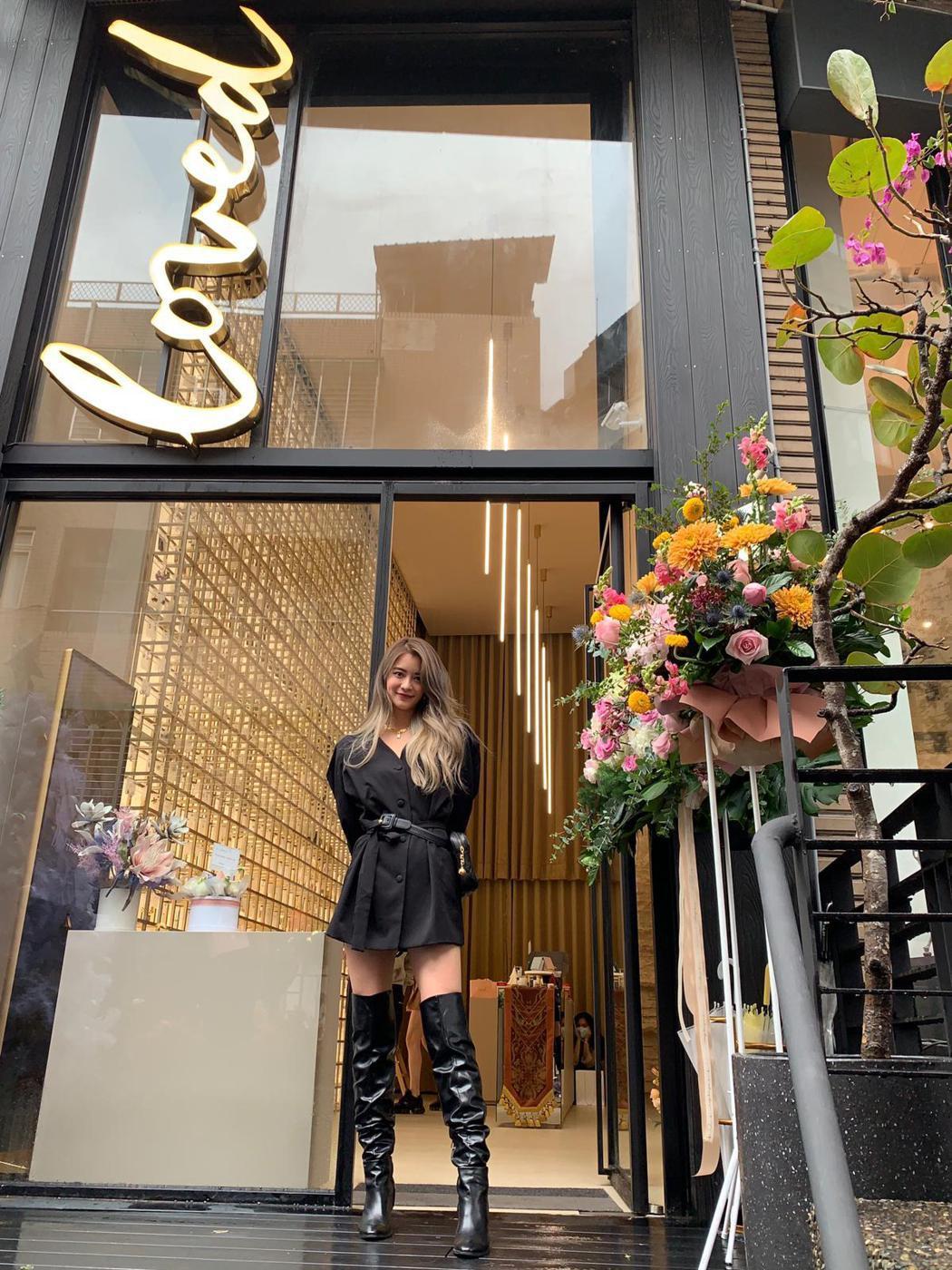 林珈安經營飾品品牌有成,砸500萬打造實體旗艦店。圖/凹凹凸凸娛樂工作室提供