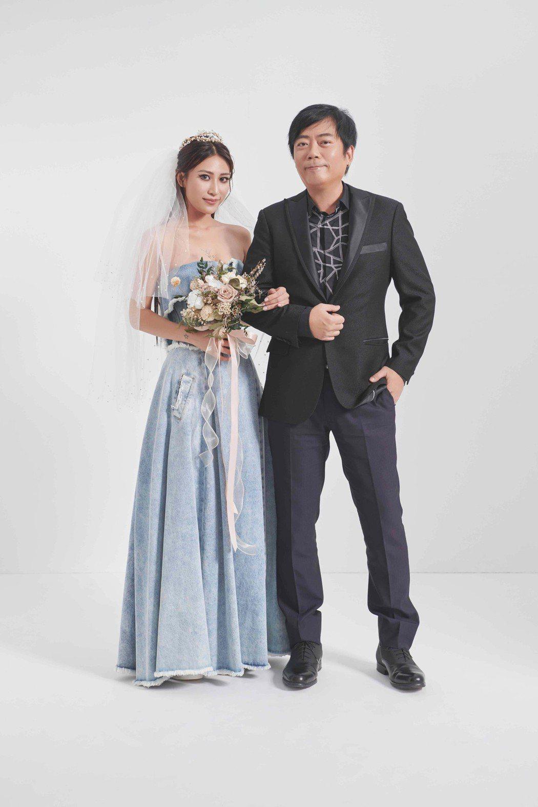 呂婕菲(左)與老公涂惠源結婚至今11年。圖/聲達娛樂提供