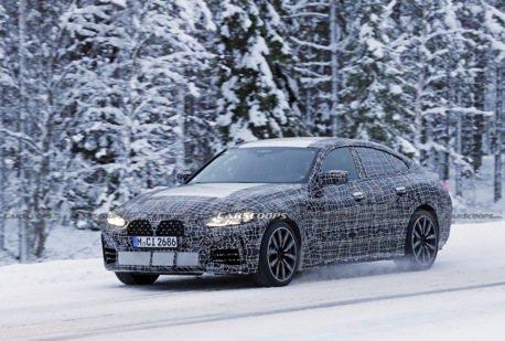 大改款BMW 4 Series Gran Coupe雪地測試捕獲 除了大鼻孔外觀還神似3GT!