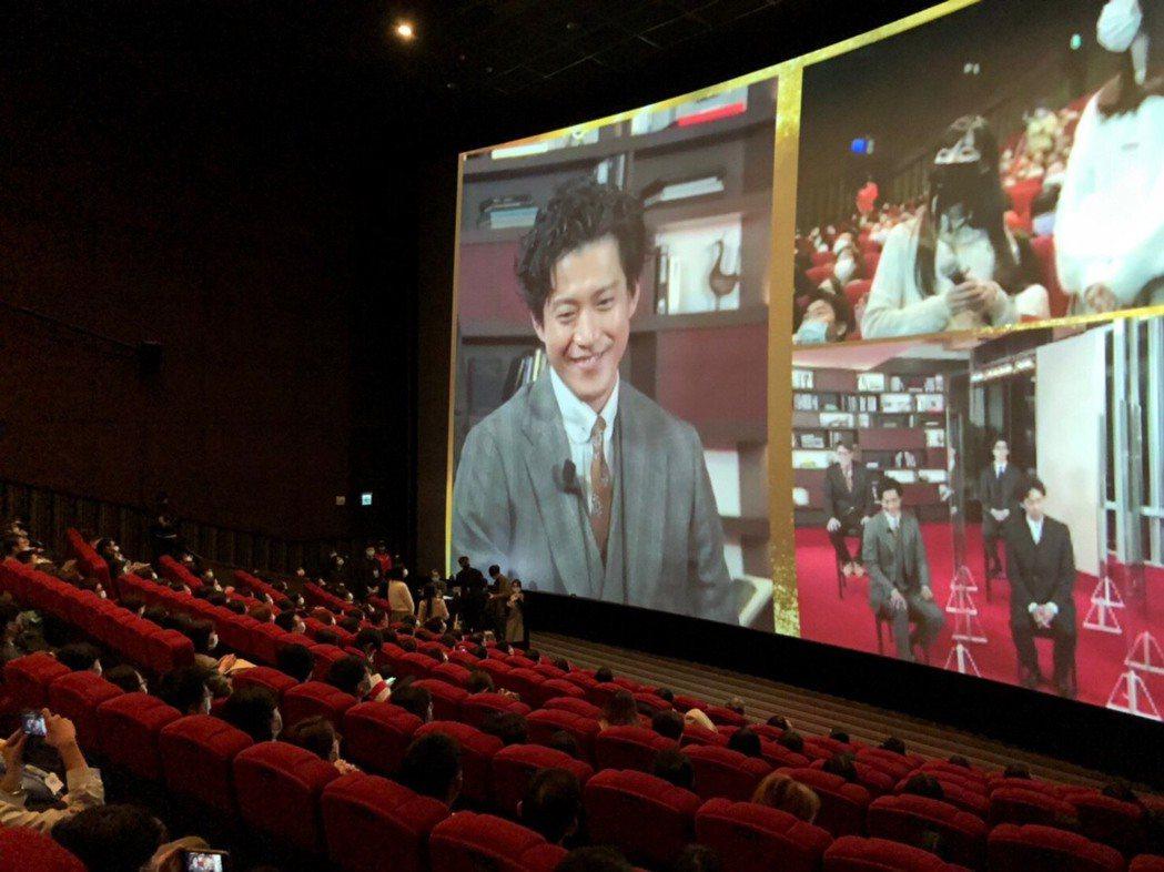 「新解釋.三國志」日本台灣連線首映會。圖/車庫提供