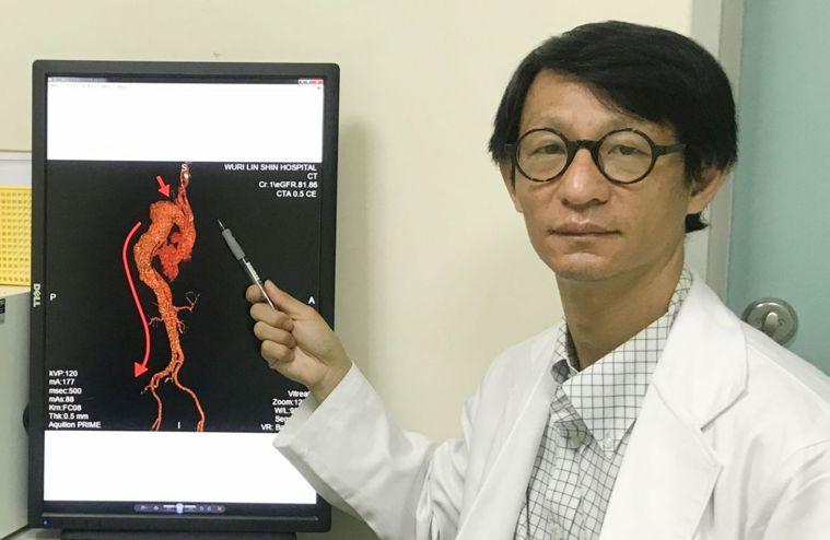 醫師胡珀元說明,主動脈剝離會因不同發生部位,易延誤診斷及治。圖/烏日林新醫院提供