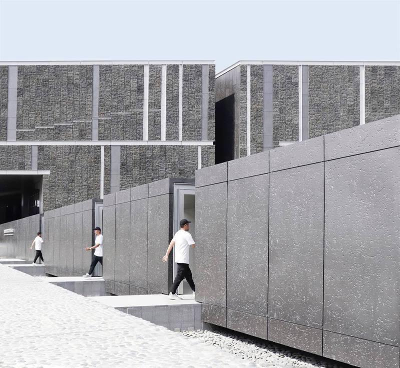 「國立台灣史前文化博物館南科考古館」不管從空拍或遠眺看起來都十分神似魔術方塊。圖片授權:IG@alan7022814