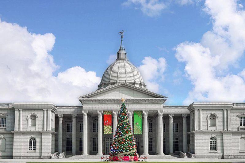 「奇美博物館」華麗的耶誕樹,展現濃濃異國風。圖片授權:IG @beckhamhong66