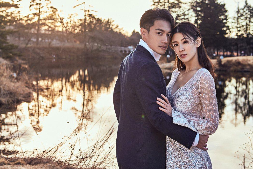 許孟哲和趙孟姿遠赴日本拍婚紗。圖/永恆婚顧提供