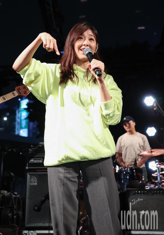 蘇慧倫與老王樂團在簡單生活節同台演出。記者余承翰/攝影