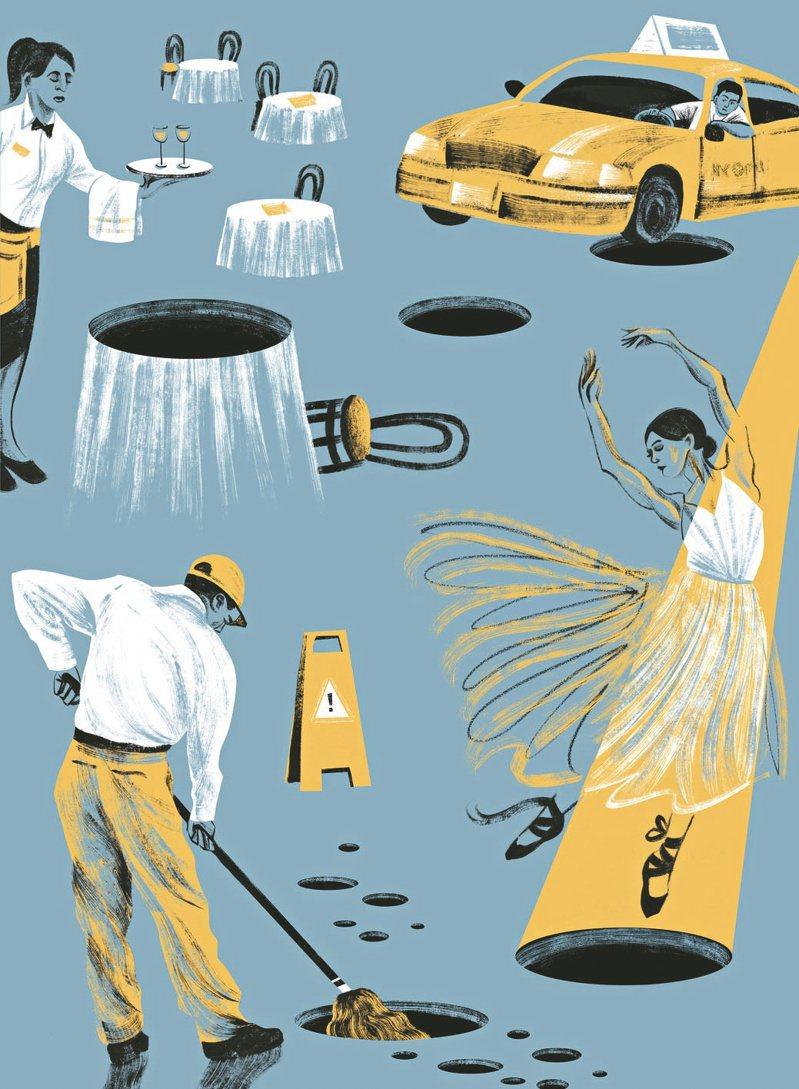 許多傳統行業工作機會恐將一去不回,尤其是服務業,勞工必須轉型。 (紐約時報)