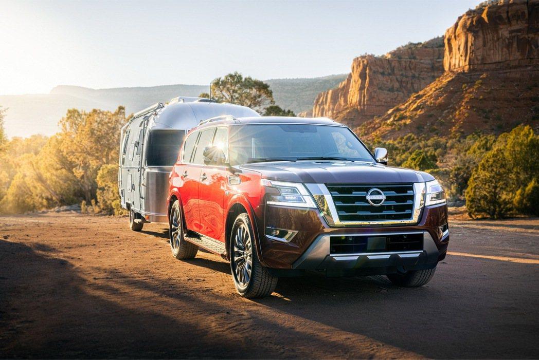 Nissan Armada拖曳能力為3,855 kg。 圖/Nissan提供