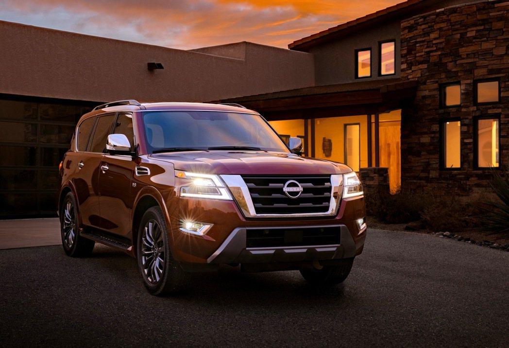 Nissan Armada全新的車頭造型相當年輕現代化。 圖/Nissan提供
