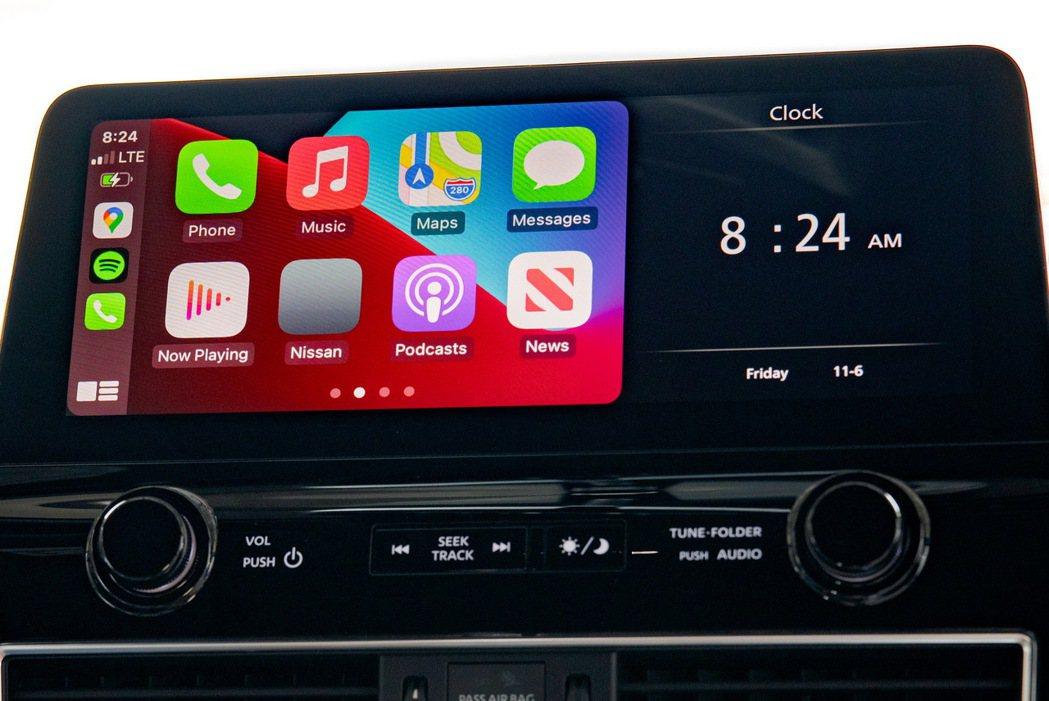 有著1920 x 720解析度的12.3吋多媒體觸控螢幕。 圖/Nissan提供