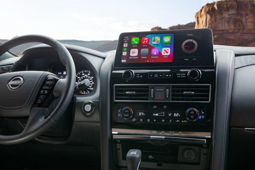 原廠表示這是目前Nissan所有車款中最大的螢幕。 圖/Nissan提供