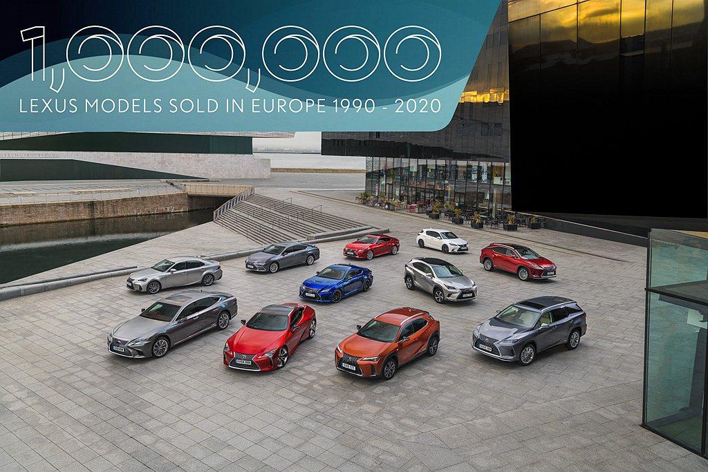 日本豪華車廠Lexus宣布,在歐洲地區累積銷售達100萬輛紀錄。 圖/Lexus...