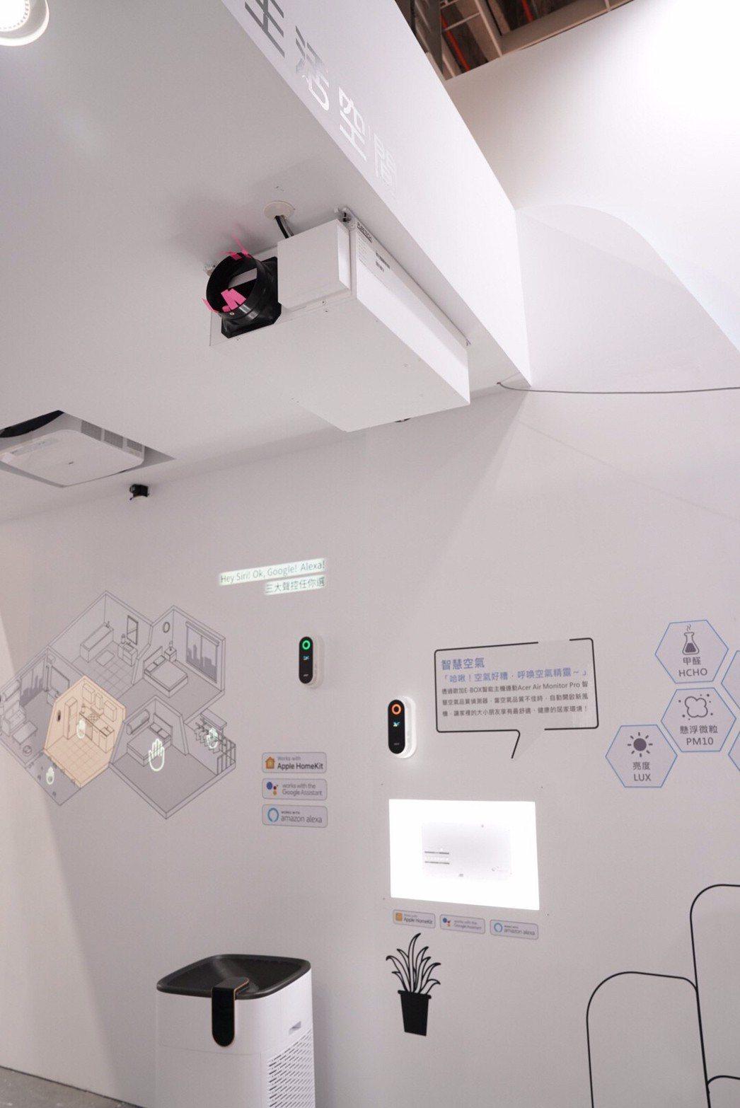 宏碁Air Monitor Pro空氣偵測串聯改善設備-海博特新風機,以保障優質...