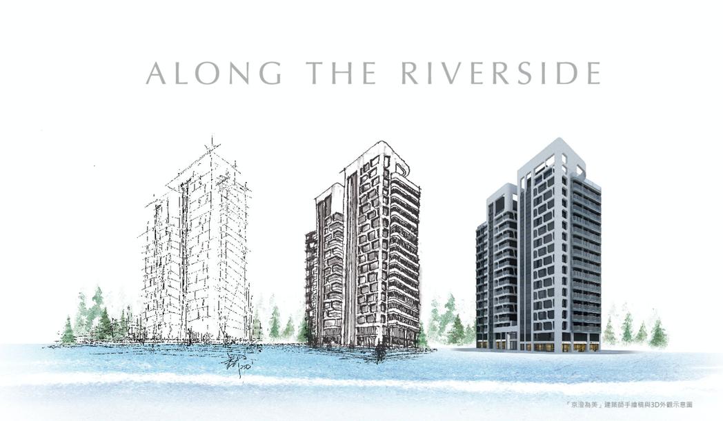 京澄為美外觀設計以悠緩律動的水紋映景溪水波光粼粼