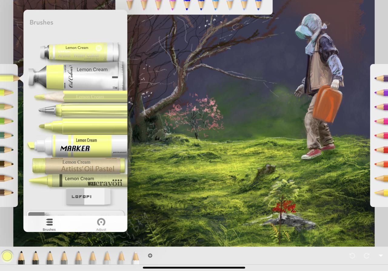 Art Set 4擁有超多樣化的筆刷工具,從油畫、水彩、粉彩、鉛筆、原子筆到蠟筆...