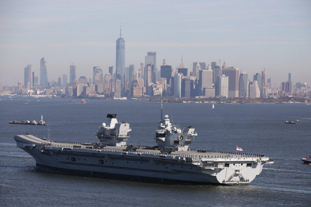 2018年伊莉莎白航艦前往紐約訪問。 圖/路透社